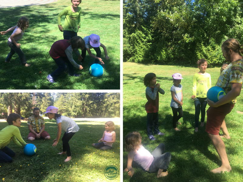 Playing fun field games with the ice cream ball!