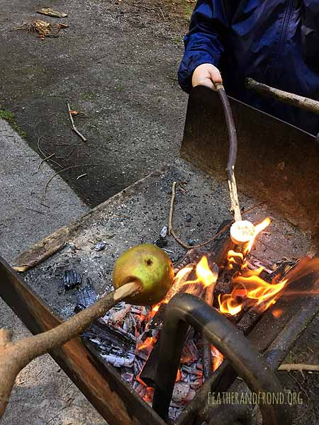 Fire-roasted apples.. YUM!