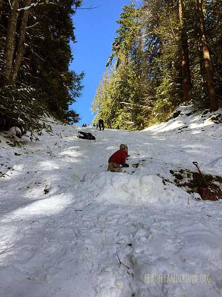 Epic hill for sledding/otter sliding!