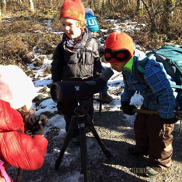 We met some birders with a fancy spotting scope!