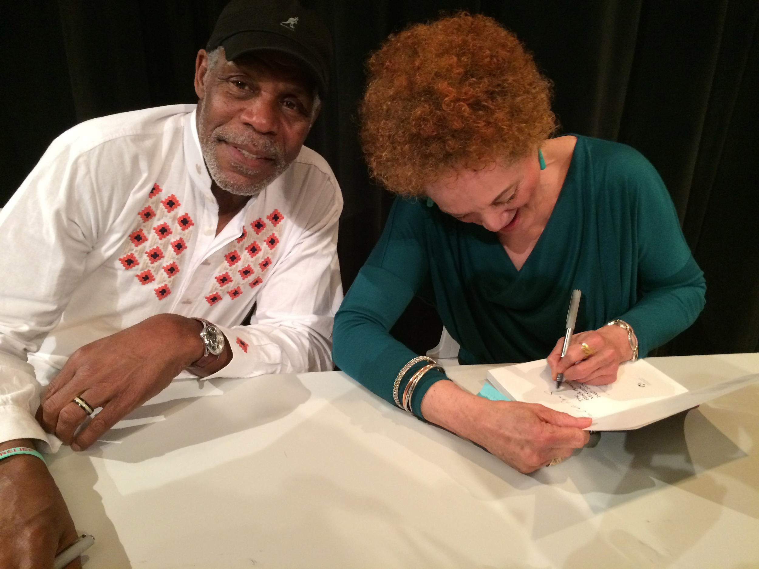 Kathleen Cleaver and Danny Glover