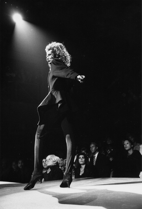 Andy Warhol at Azzedine Alaïa's fashion show