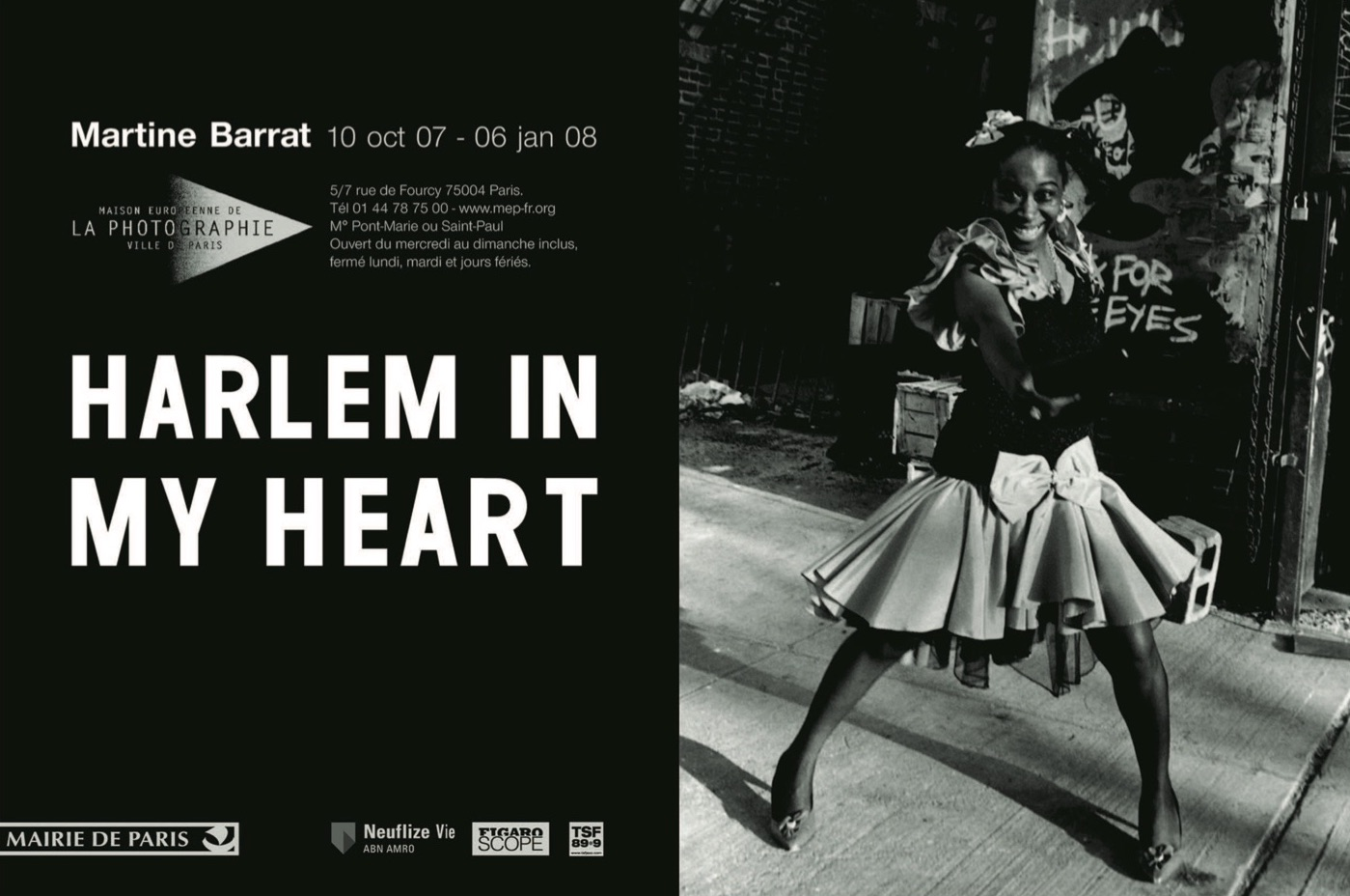 Invite from exhibition at MEP (la Maison Européenne de la Photographie) featuring my friend Love from Harlem.