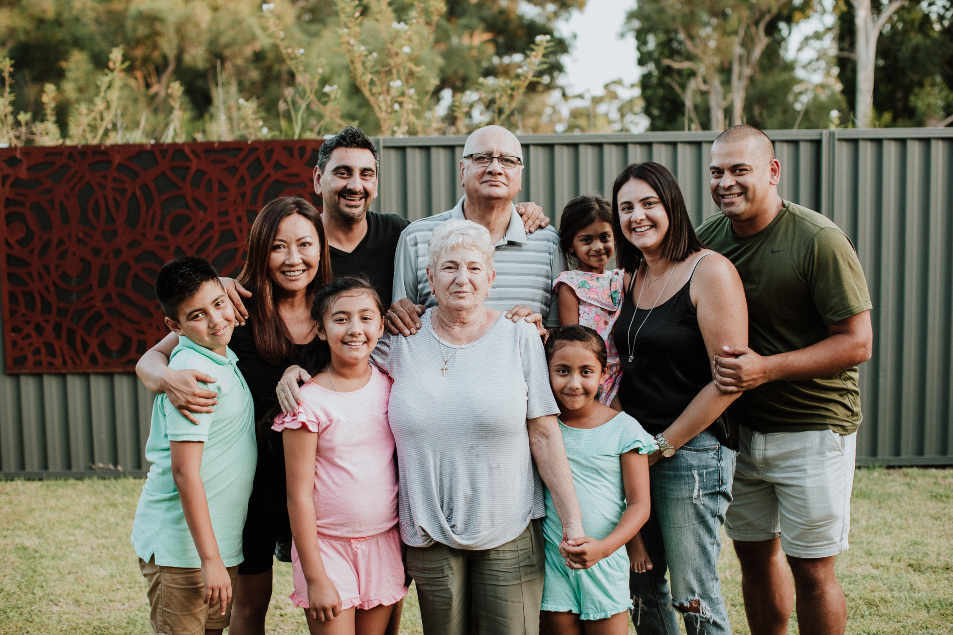 John + Carmen and their gorgeous kids and grandkids.