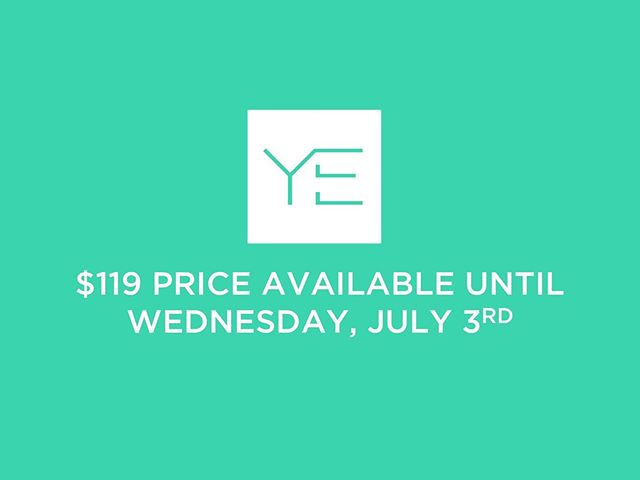 Due to some computer difficulties, the $119 price will now be available until Wednesday, July 3rd. If you missed the deadline, you've been given a second chance! Don't blow it. Register now at YESF.info!