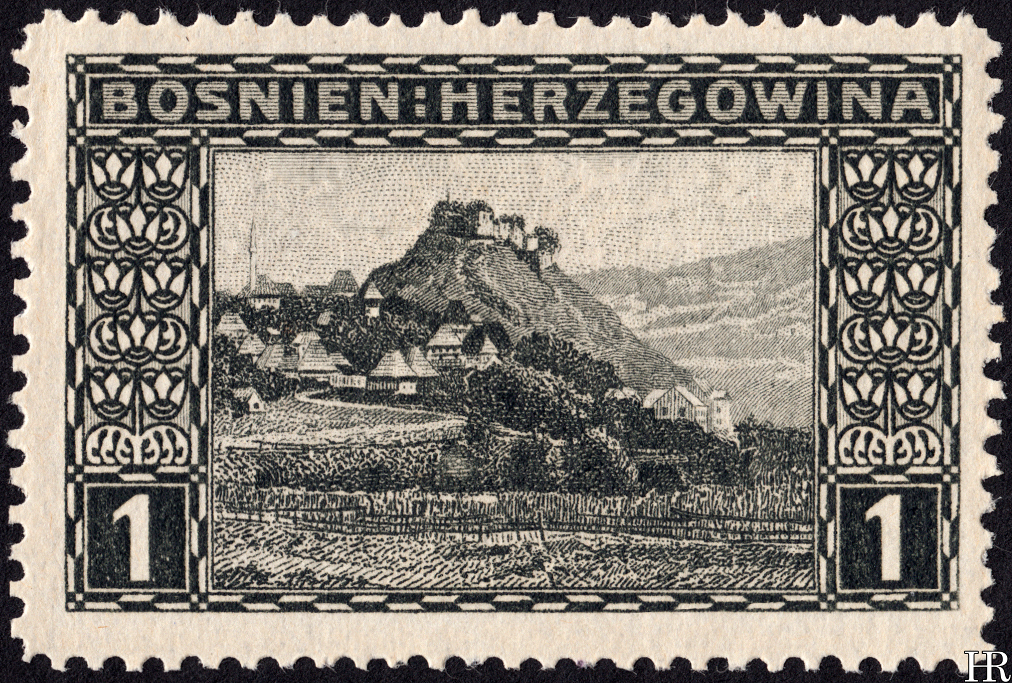 "1 heller - ""View of Doboj"""