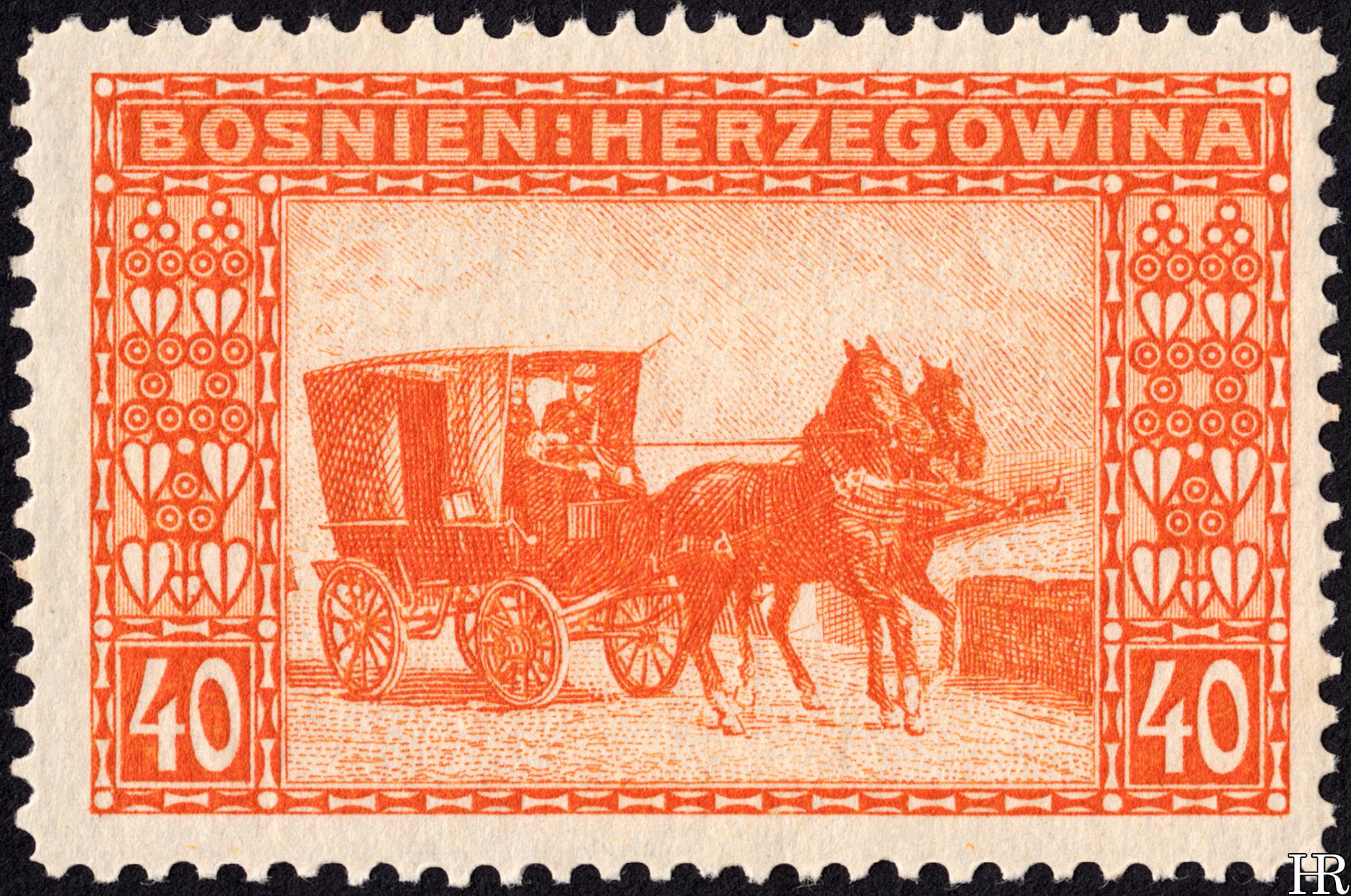 "40 heller - ""Mail Wagon"""