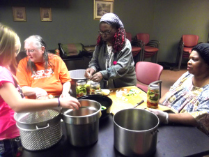 Lissa, Mary, & Margaret at the preserving workshop.