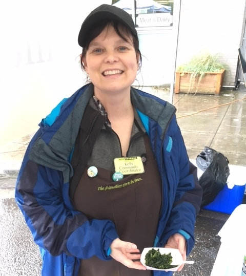 Kelly hosting at the New Columbia Farmers Market in 2017