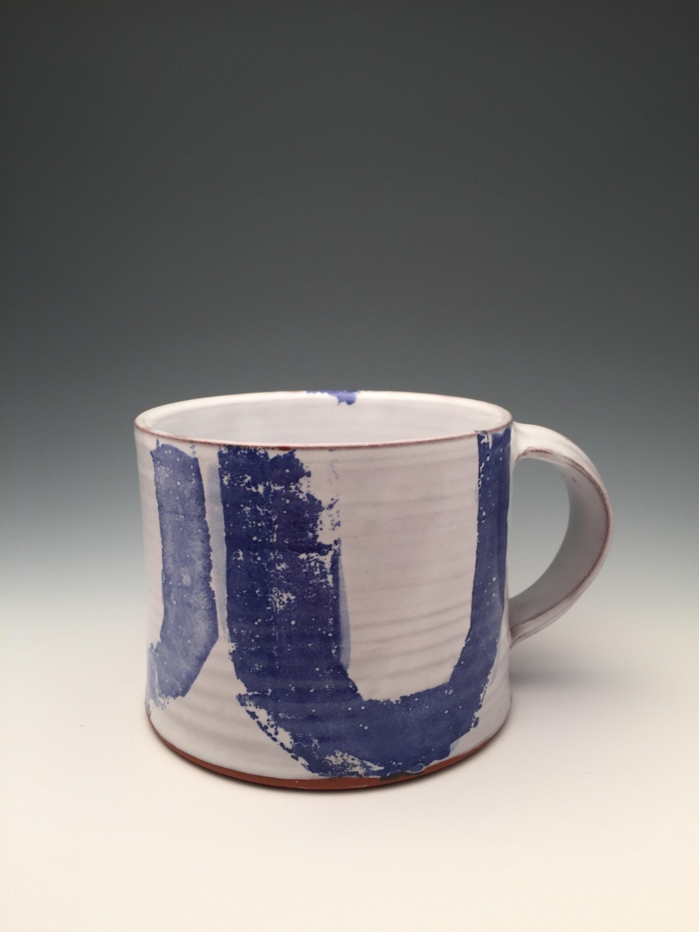 Earthenware mug with majolica glaze. 2016.