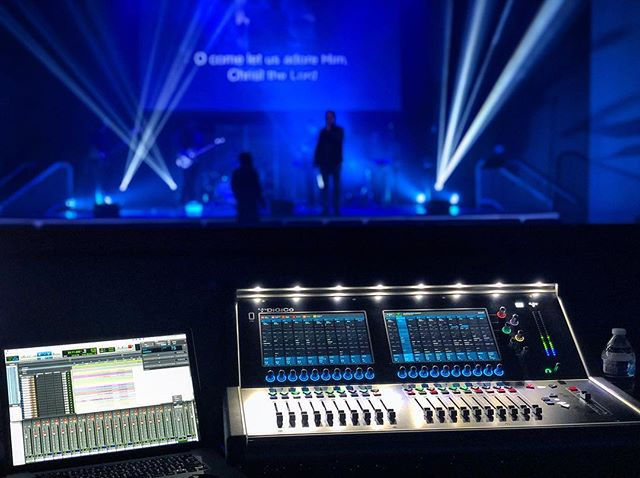We had a blast supporting our friends over at @5wordsmedia with an audio recording engineer for their Live Christmas Music Video.  #christmas #musicvideo #video #audio #lighting #record #sound #music #mix #production