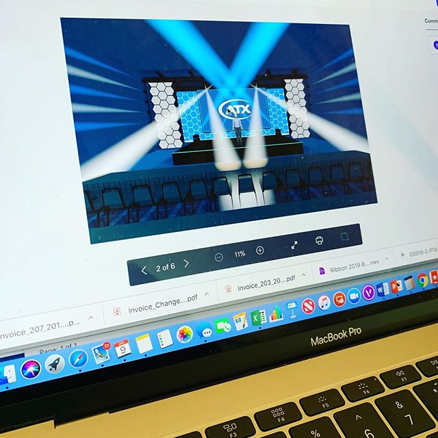 Putting the final touches on design for an upcoming show, for a new client. Looking forward to a busy few weeks ahead.