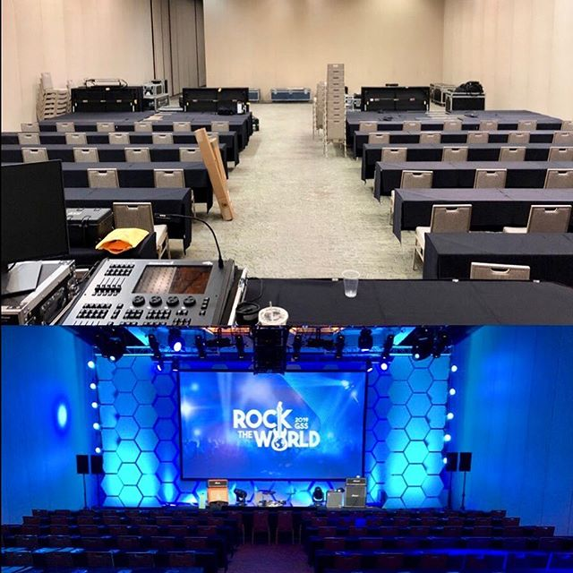 #before&after of our current show.