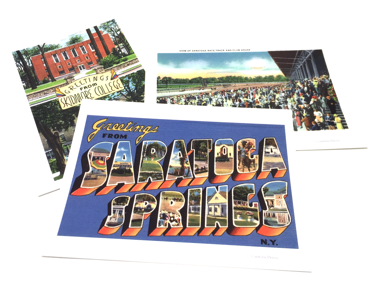 3 Pack of Saratoga post cards, iconic images printed with a gloss finish on heavy card stock that look equally awesome in a mailbox or frame.