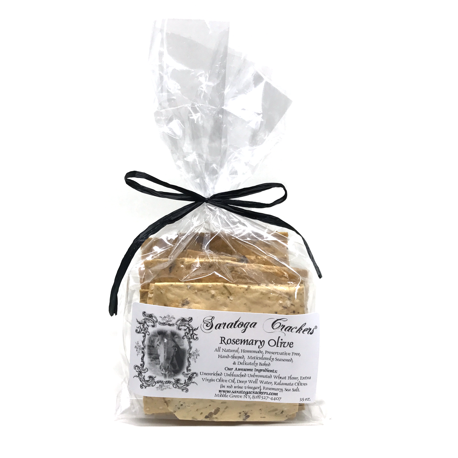 Handmade, artisan, clean, delicious, savory, Saratoga. Saratoga Crackers are the quintessential Saratoga treat!  Serve them at your next formal party, or snack on them while you warm up in front of the fire!