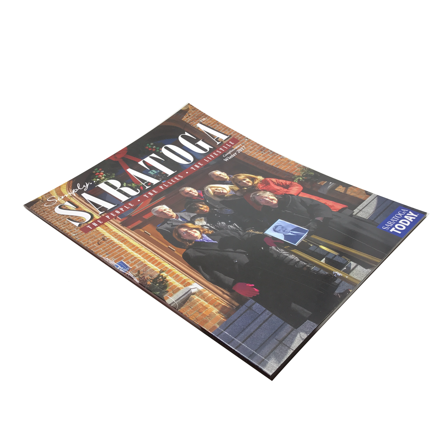 Available to include in each box for FREE, the latest issue of bi-monthly published Simply Saratoga Magazine! Each issue is complete with articles on the people, places, and lifestyle of Saratoga, a great way to be a part of Saratoga, no matter where you are!
