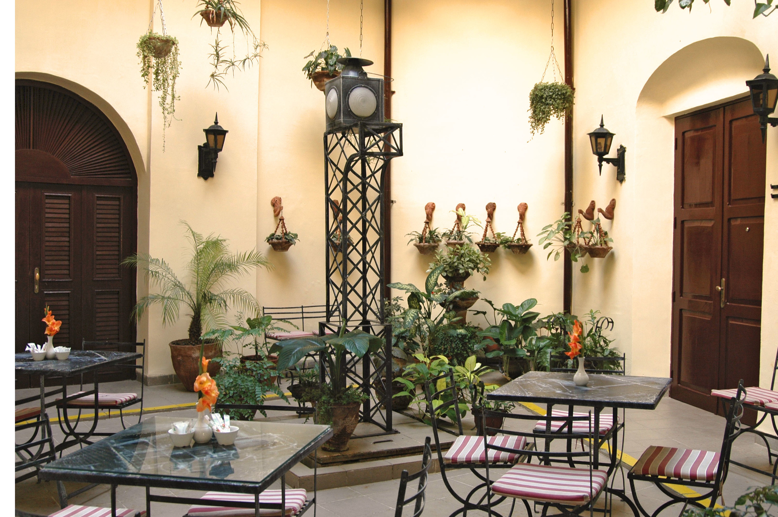 One of many plant decorated villas