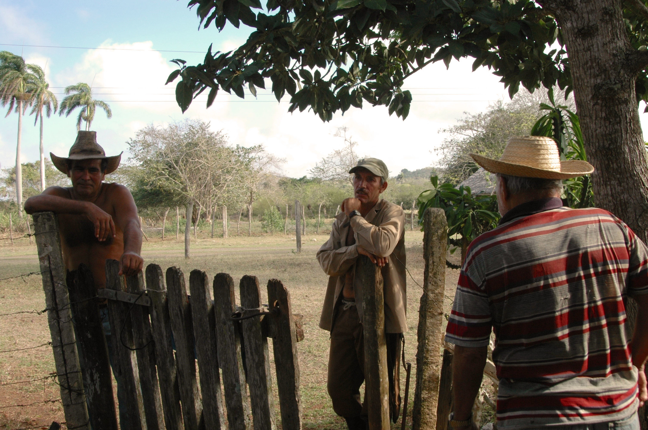 The man on the left was working a cane field when we arrived and got goosebumps when we showed him the old photos of the ranch