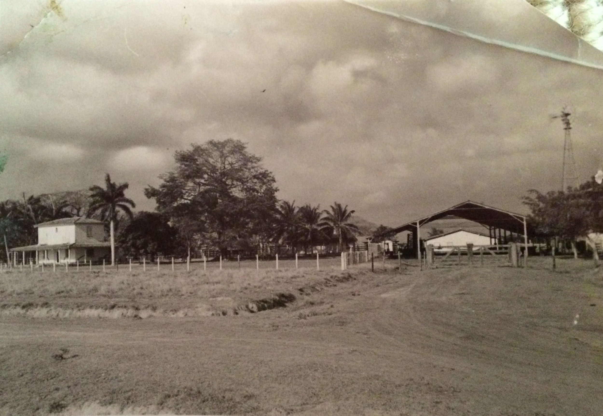 Photo provided by my grandmother of the house where my grandfather grew up and his cattle ranch