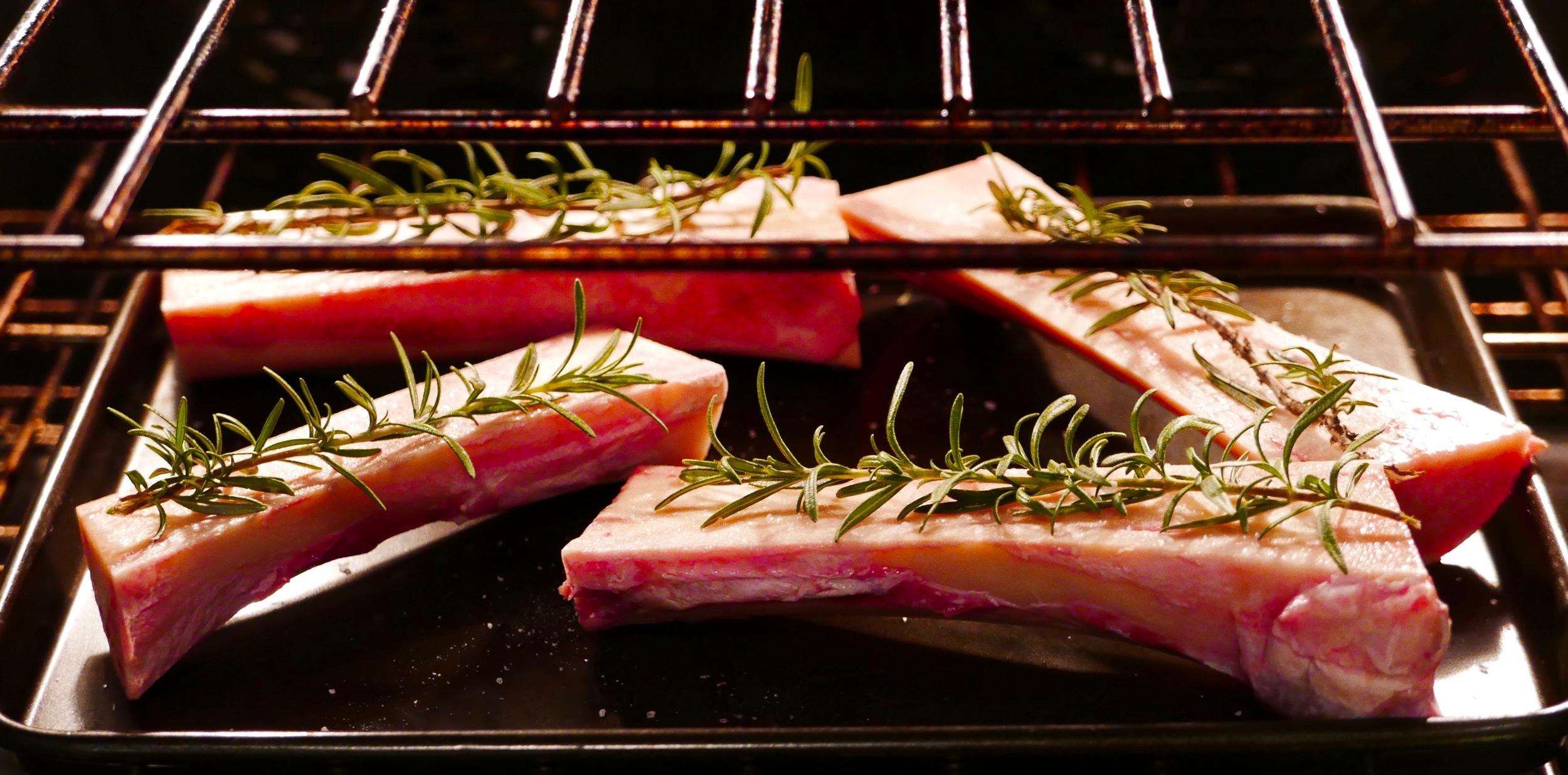 Bone marrow entering the oven