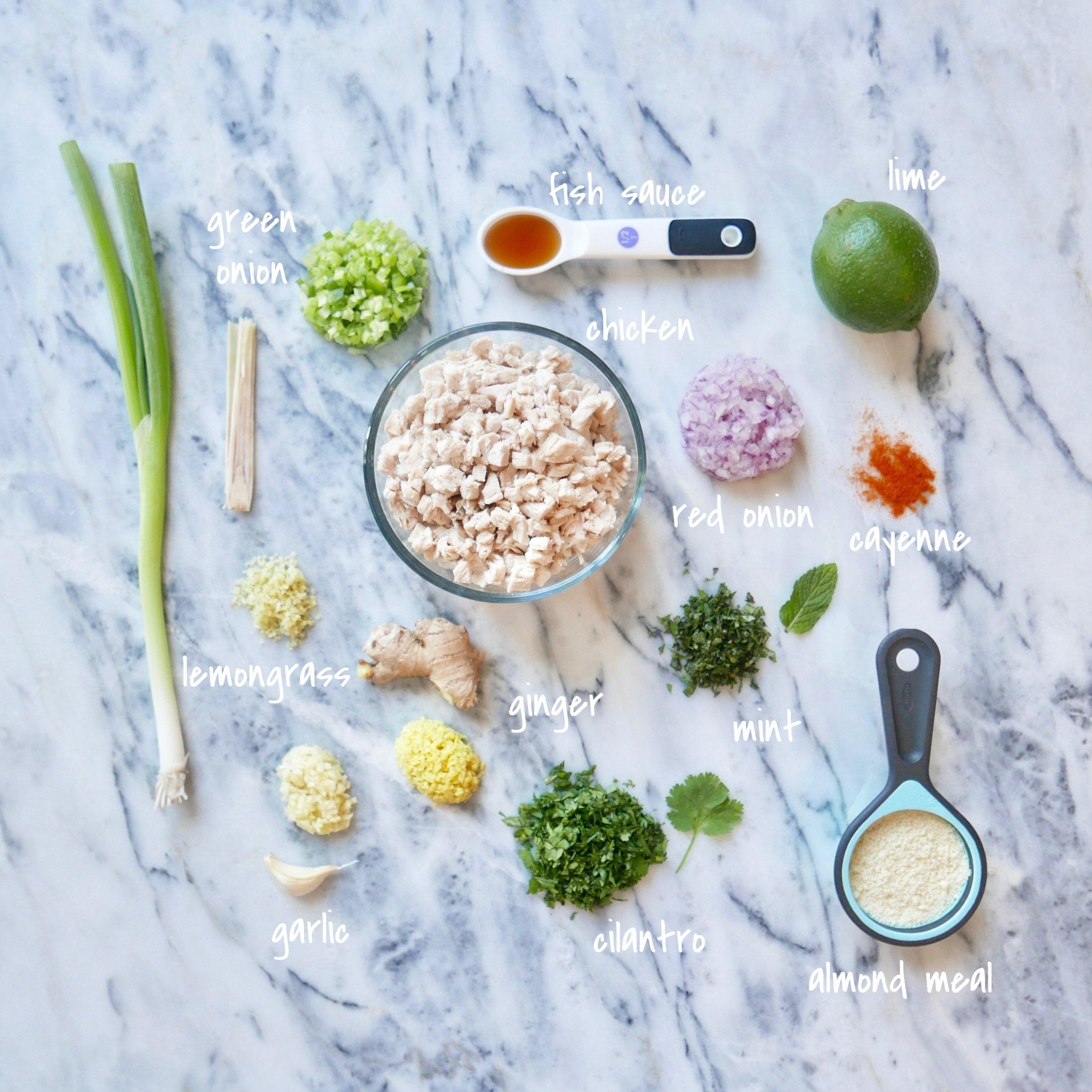 Chicken Larb, ingredients