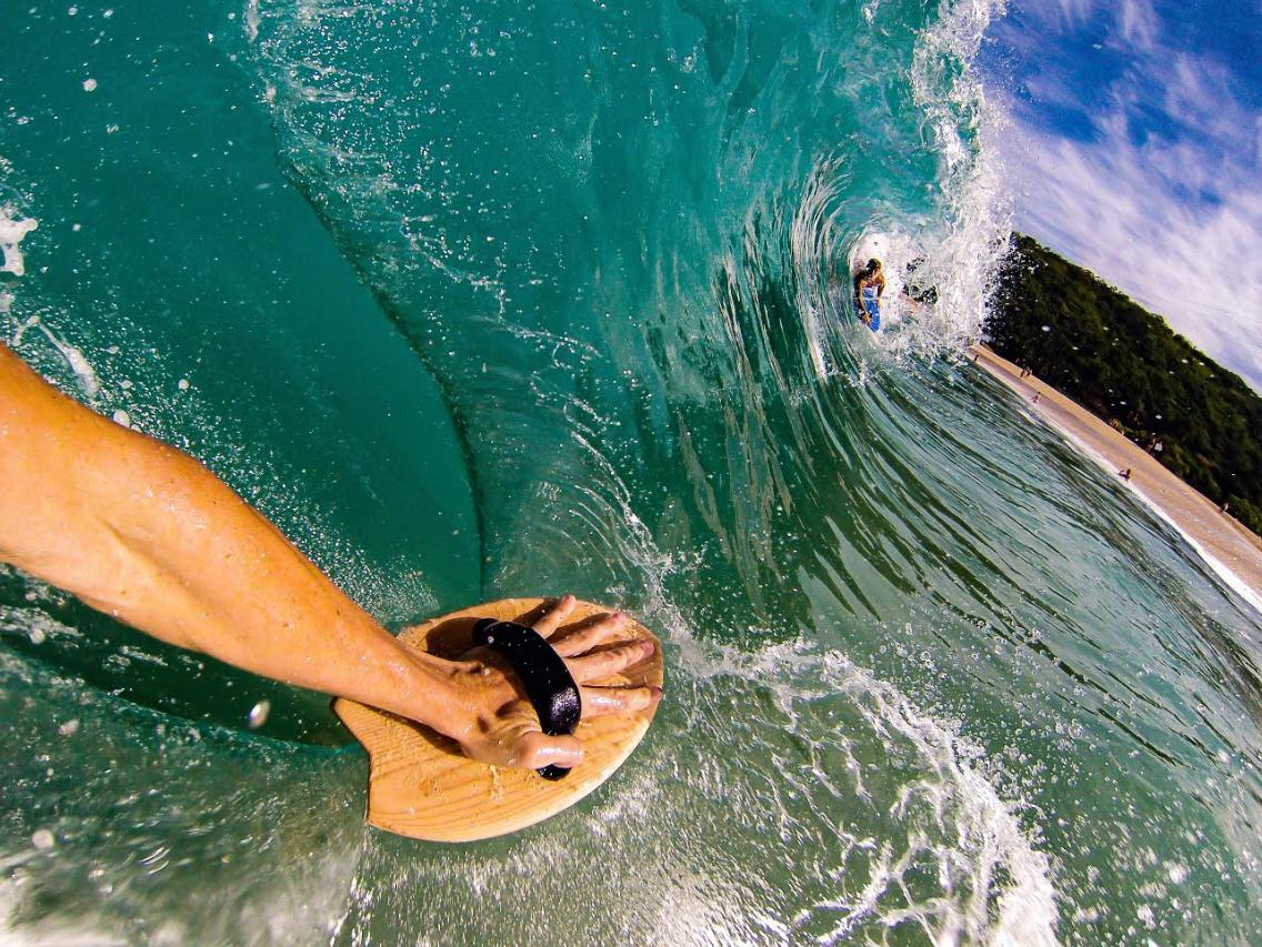 handplane surfing