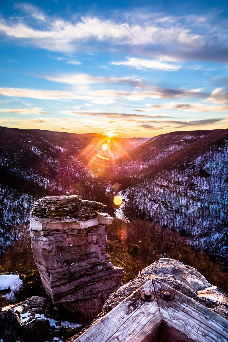 Sunset at Lindy Point (Winter 2016) - West Virginia