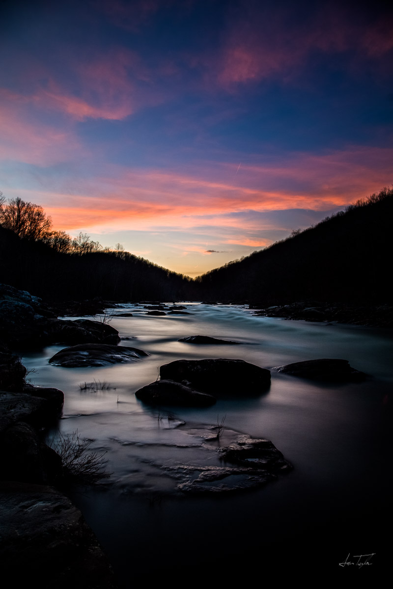 Pine Island at Sunset - West Virginia