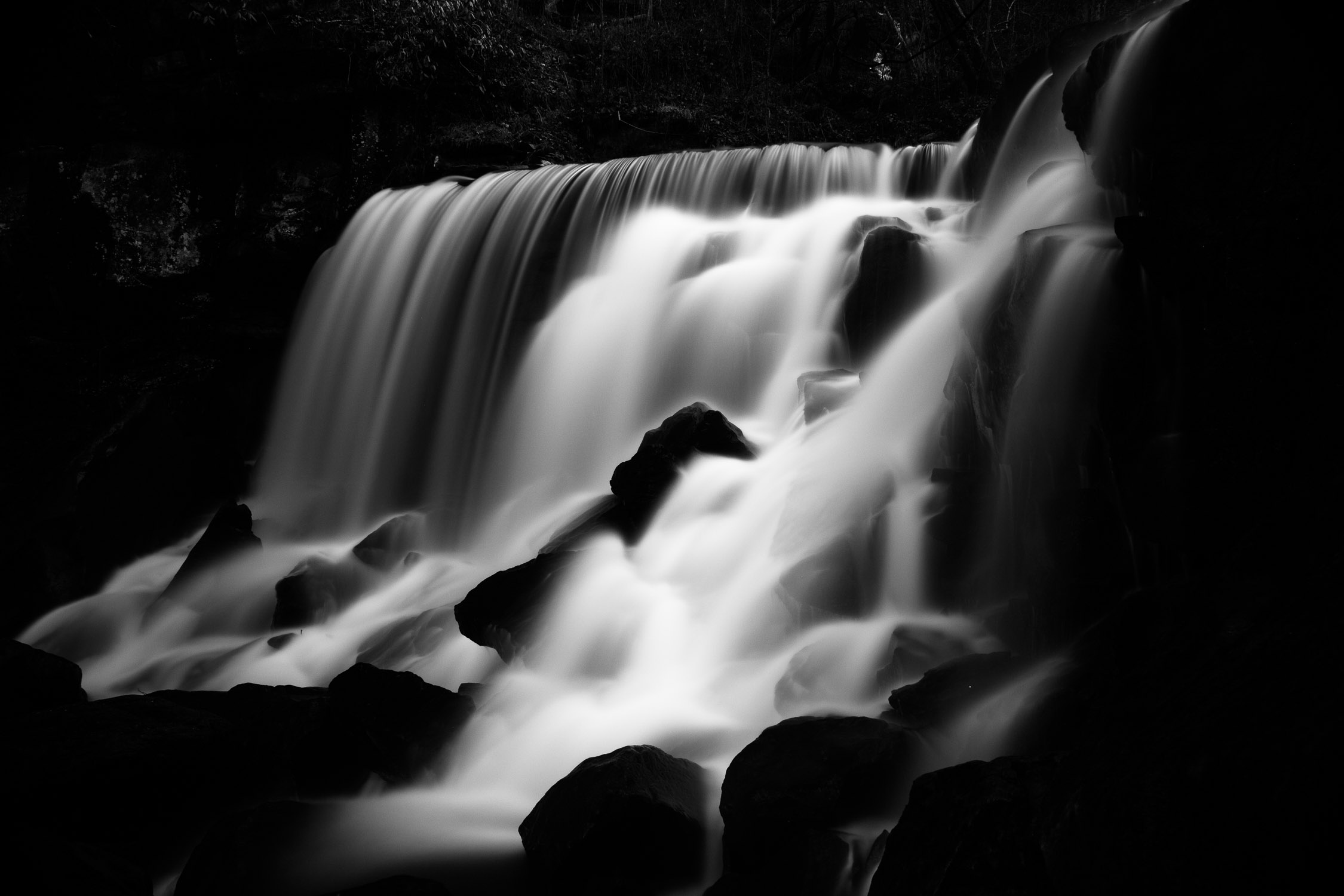 Wolf Creek Falls (B&W) - West Virginia