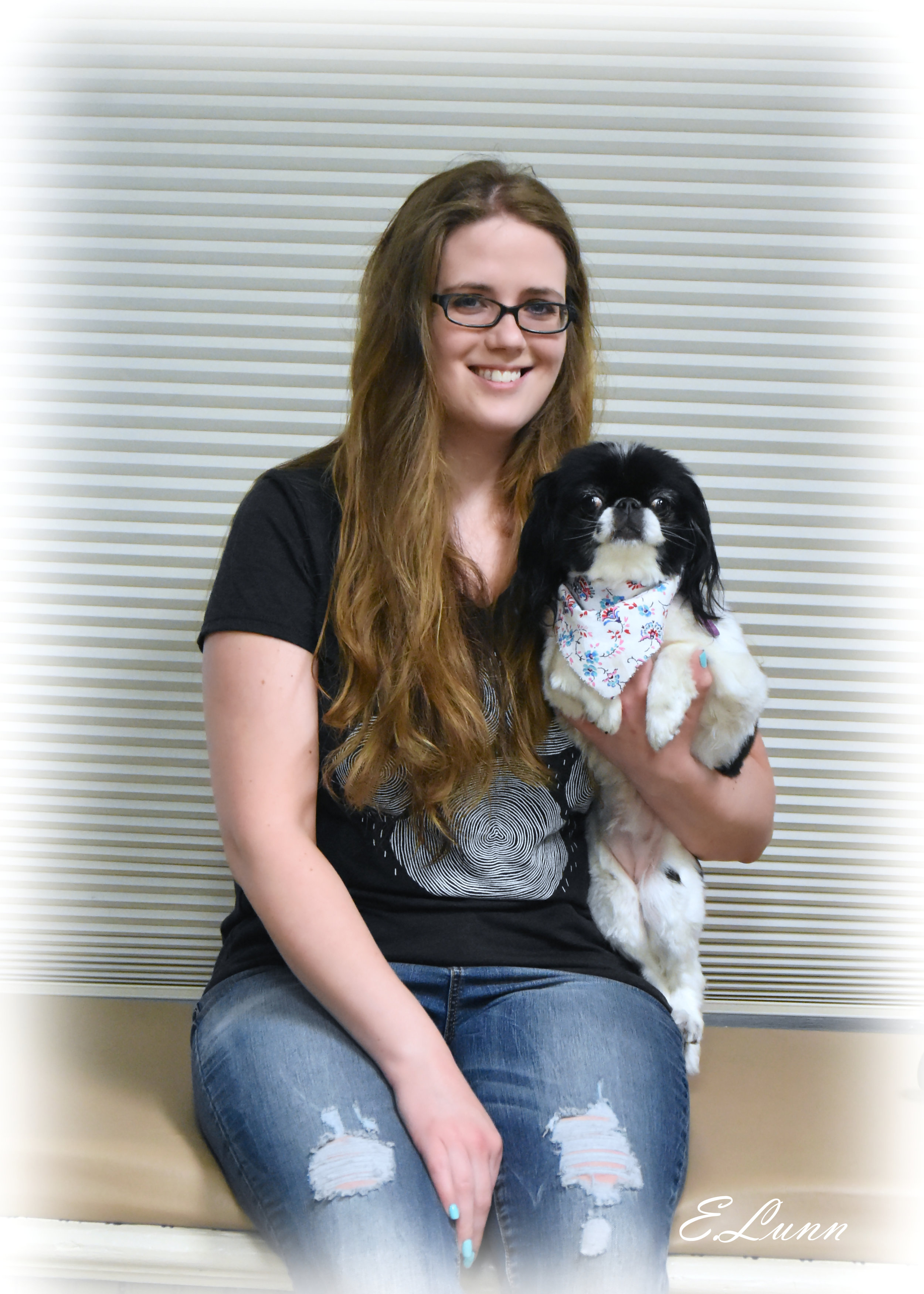 Jackie Clark - Groomer  Jackie joined the Pet Perfect team in 2016 and has worked as a bather and personal assistant to Garci. This year (2019) she has taken on training to become a full-time groomer. Jackie has also mastered the art of patience. Though she may be soft spoken, she knows how to keep challenging pets under control and has great ability when it comes to making anxious pets feel calm. She loves working with pets and is very excited to begin grooming full time in the near future.  In her free time, Jackie likes playing board games and video games. She also loves adding to her coffee mug collection, spending time with her fiancé and her Japanese Chin, stargazing, camping and going to the Renaissance Festival.