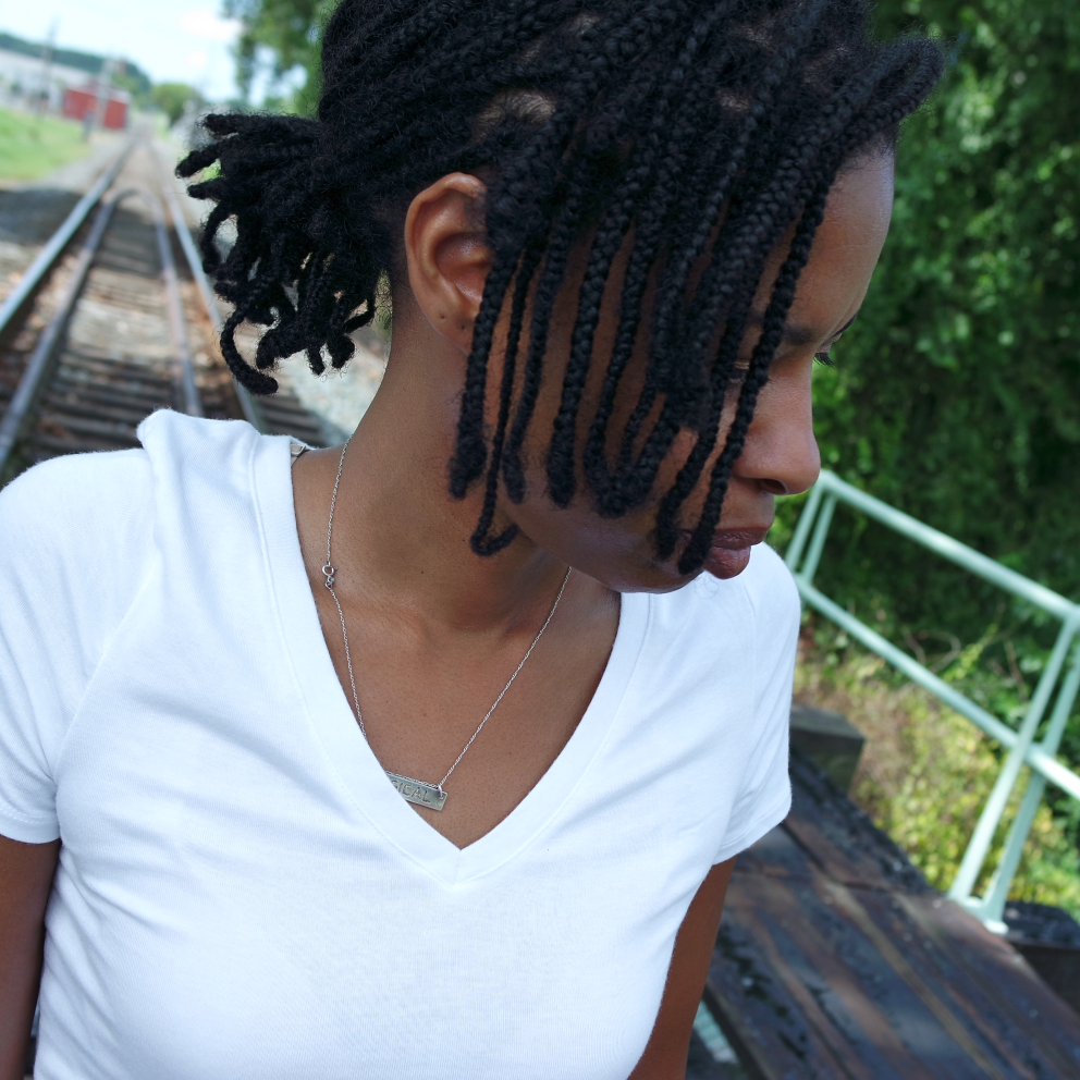 My braidlocs are a little over a week old above. August 2017.