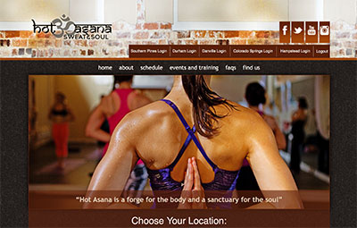 Hotasana is a great place to take yoga classes, but I'm hoping they remove their auto-rotating carousel from their homepage soon.