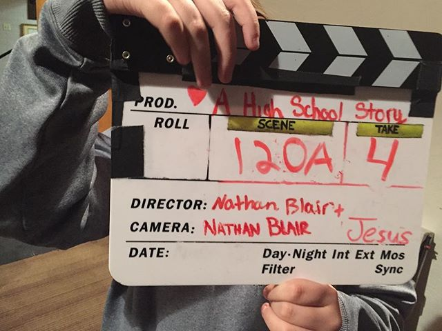 Final slate!  That's a wrap!! #ahighschoolstory #kingdomsightstudios #behindthescenes