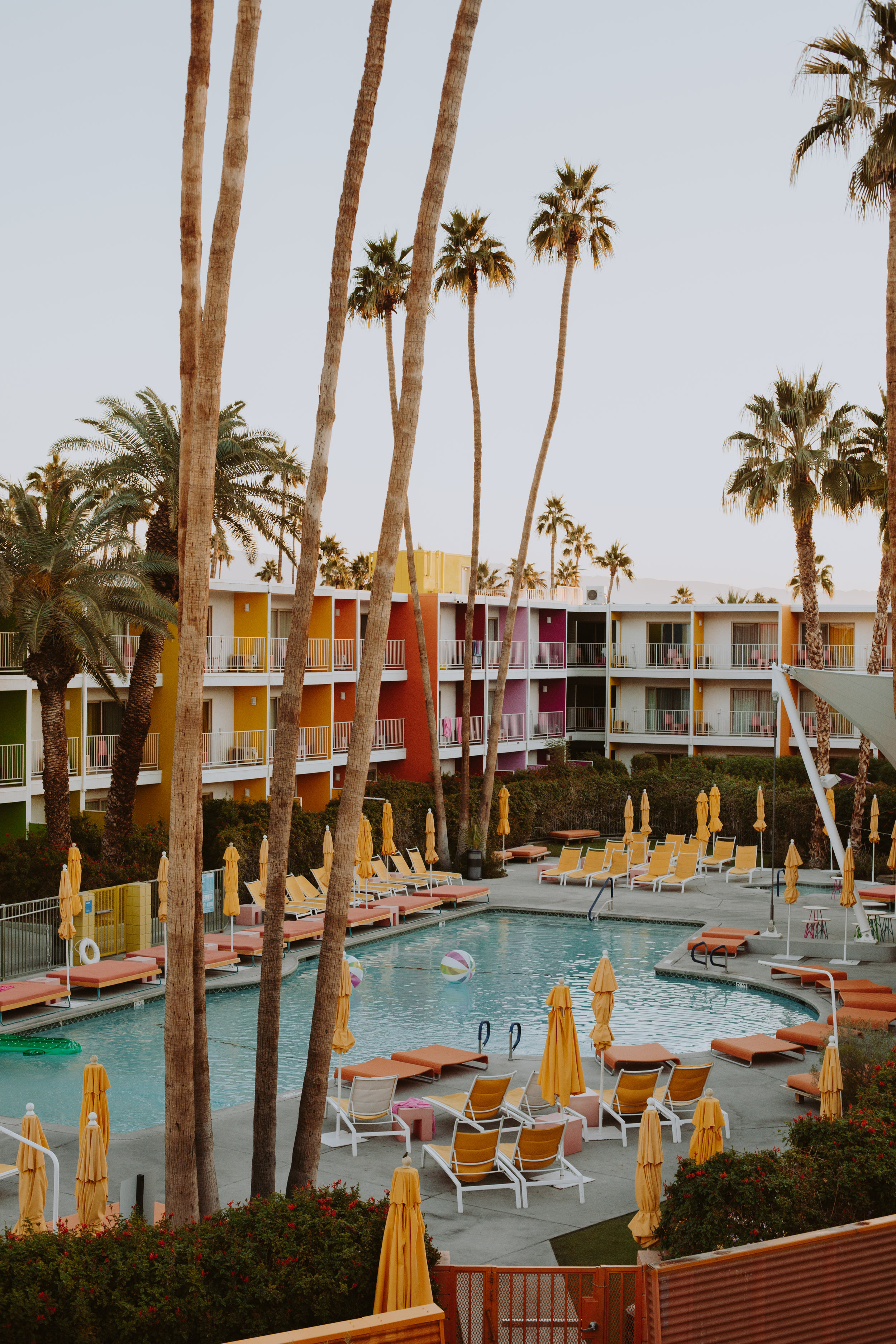 The Saguaro Hotel - An oasis in the Sonoran Desert, The Saguaro Hotel is known for its myriad of colors and instagrammable exterior. Relax by the pool, play with the giant jenga set, or take a nap in the colorful hammocks. The Saguaro is the perfect escape from the hustle and bustle of LA.