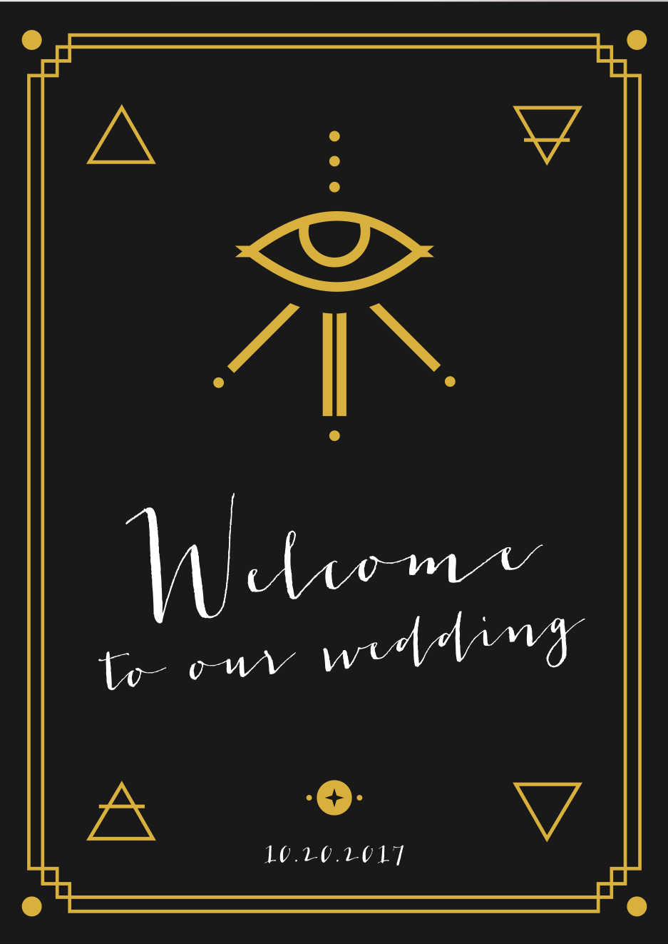 Wedding Welcome Sign - 2017