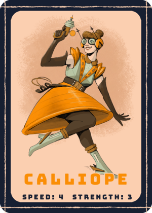 CALLIOPE  is the balanced character, moving at a steady clip through the ship and hauling a moderate amount of gear.