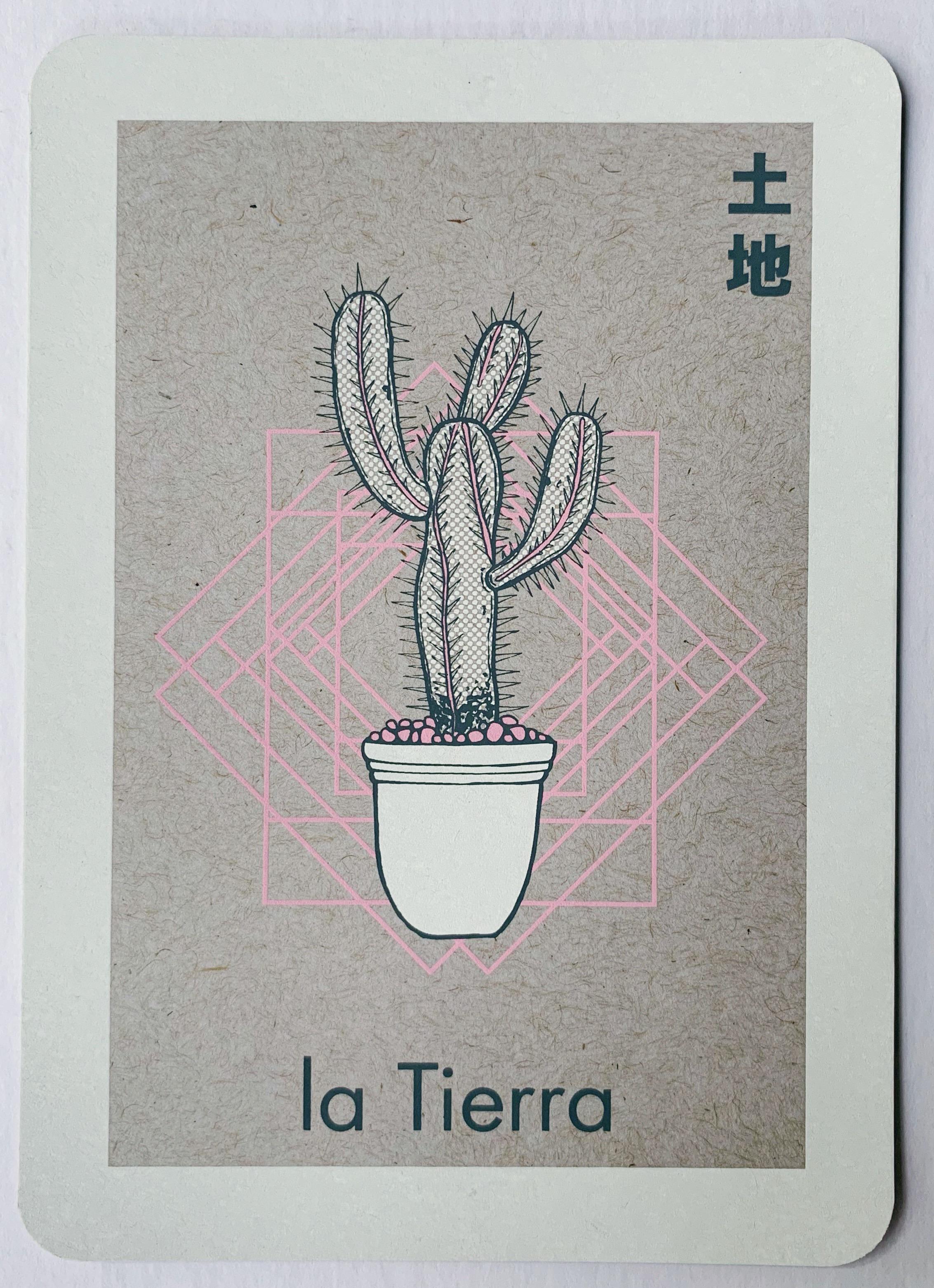 la Tierra, serigraphy, 2017