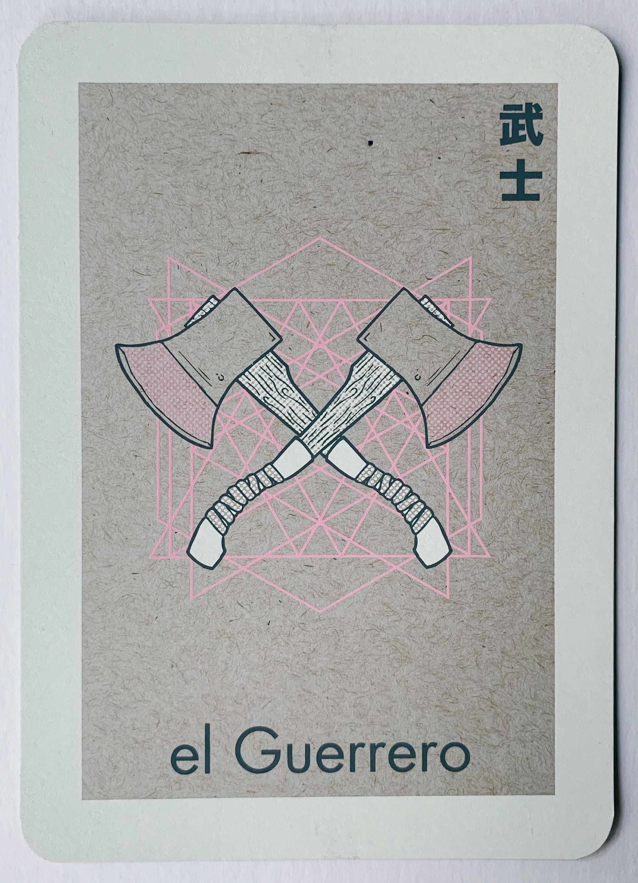 el Guerrero, serigraphy, 2017