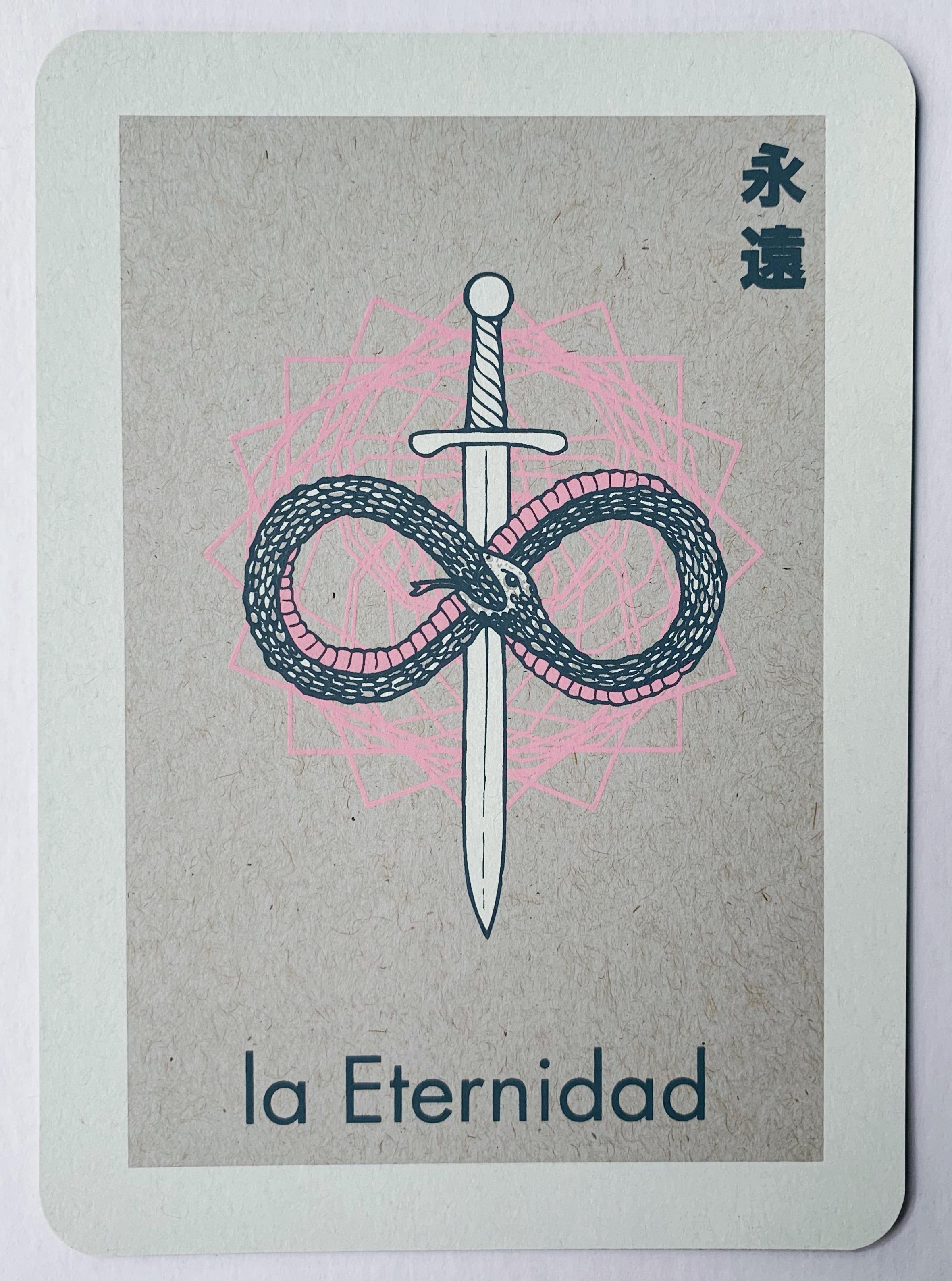 la Eternidad, serigraphy, 2017