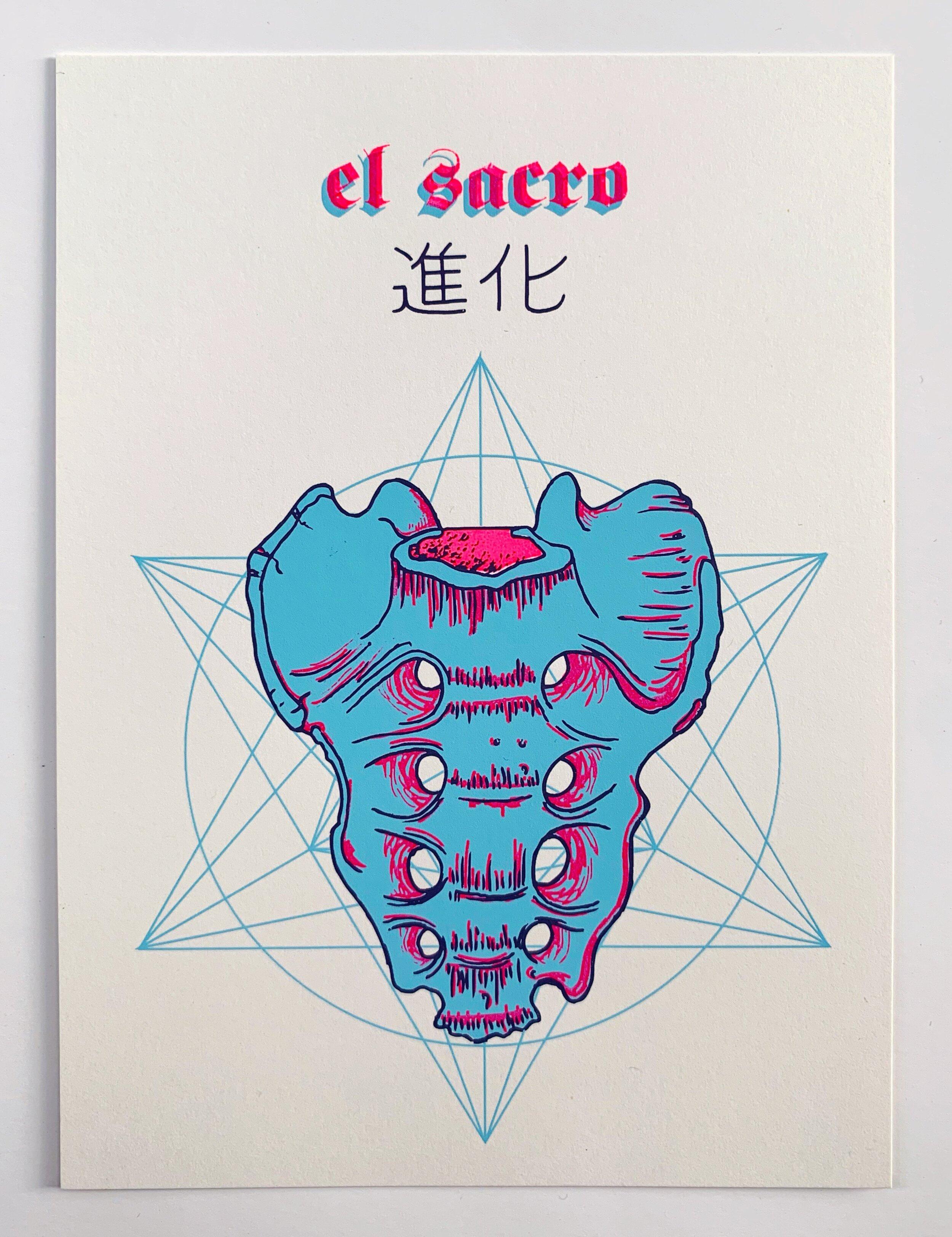evolution, serigraphy, 2015