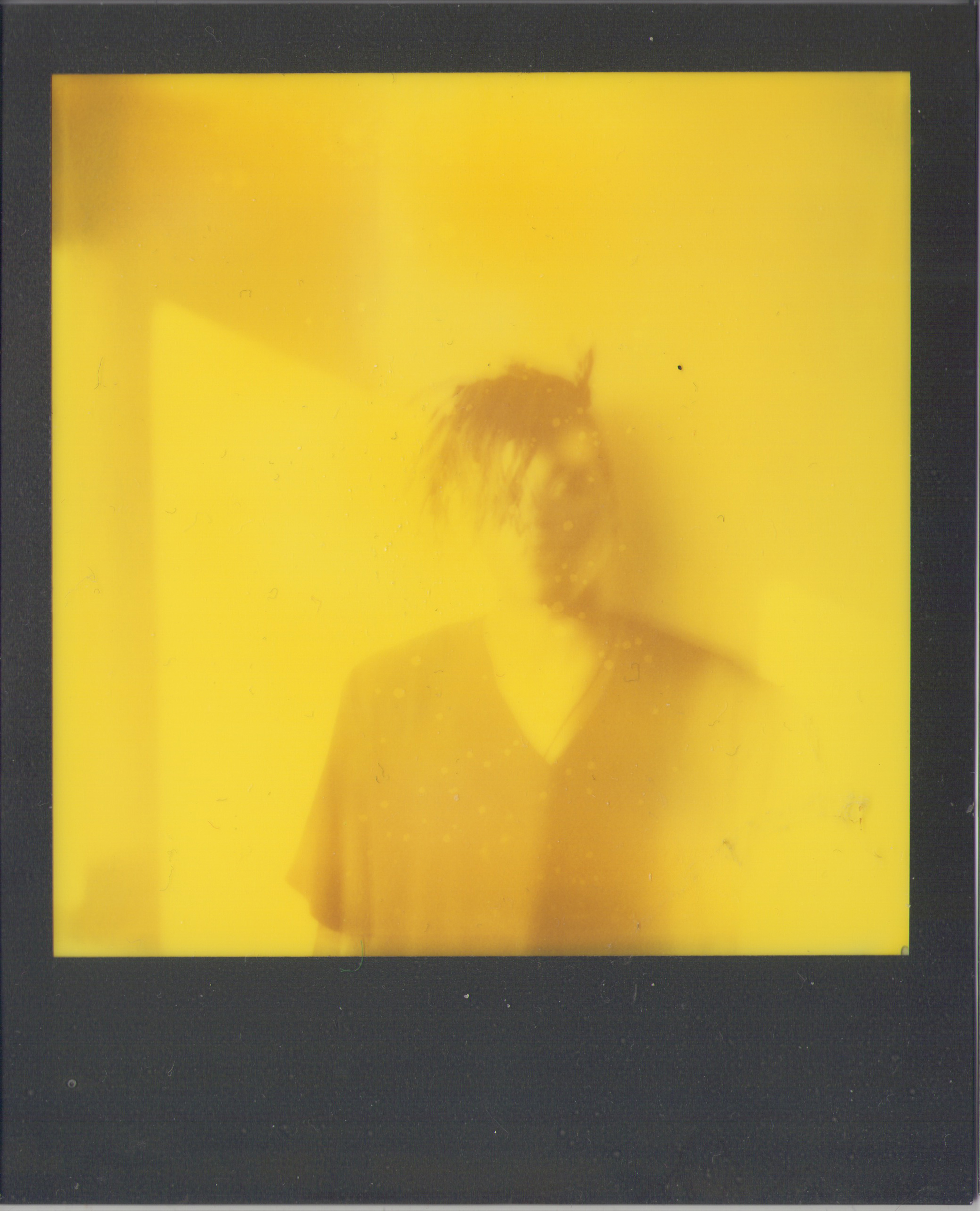 Polaroid outtake of Nigel Edwards from the studio.