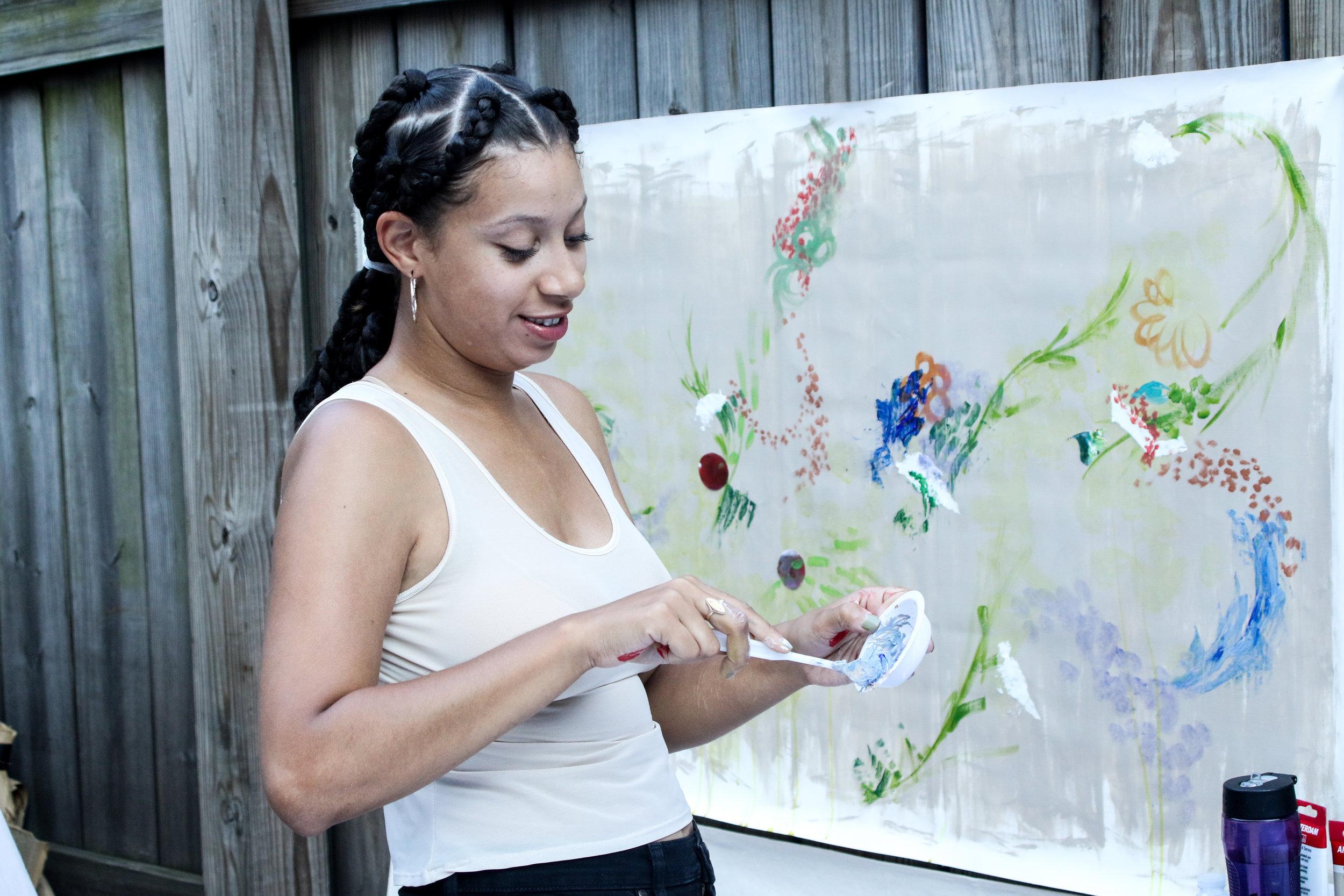 Muralist, Georgina Arroyo.