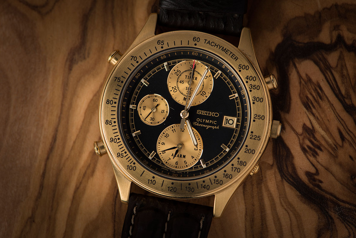 Seiko Olympic Chronograph Vintage 7T42-7A5A