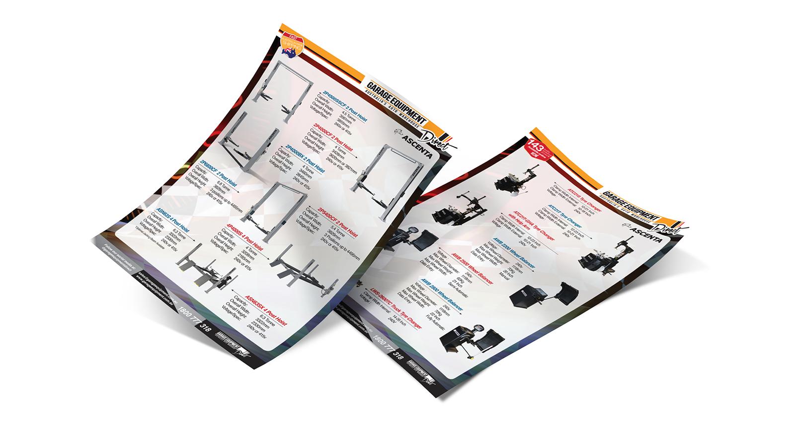 Trade show brochure - Garage Equipment Supply Australia