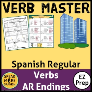 Free Verb Master Spanish regular verbs worksheets