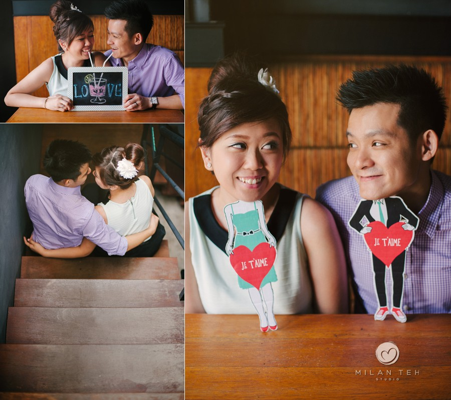 couple photo in penang cafe