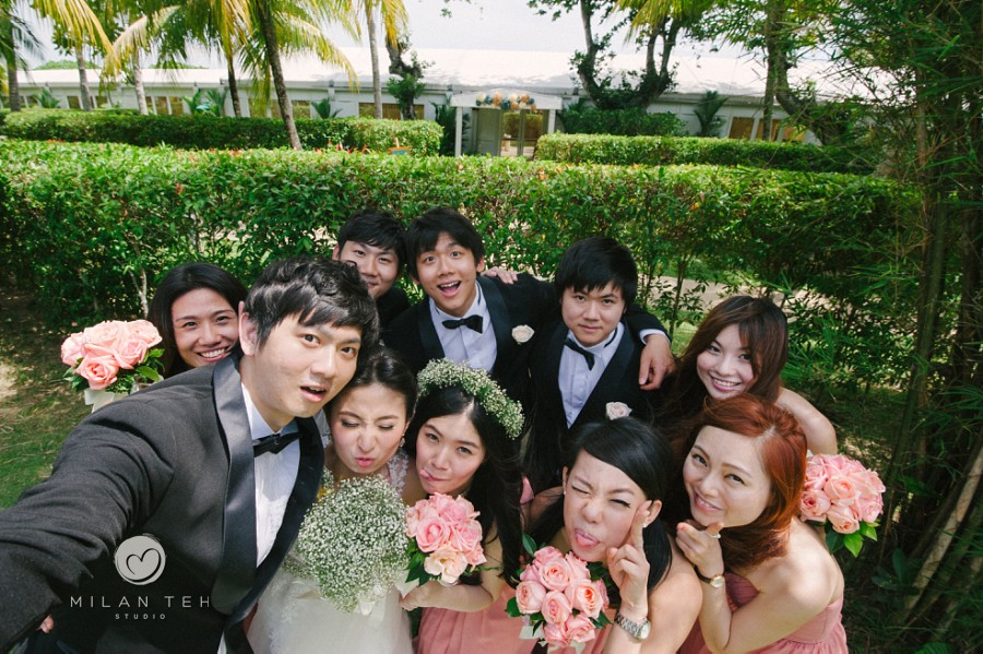 bridal party rasa sayang penang wedding