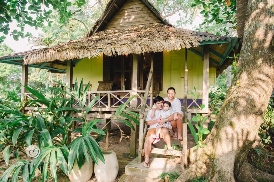 family photo in bon ton resort langkawi