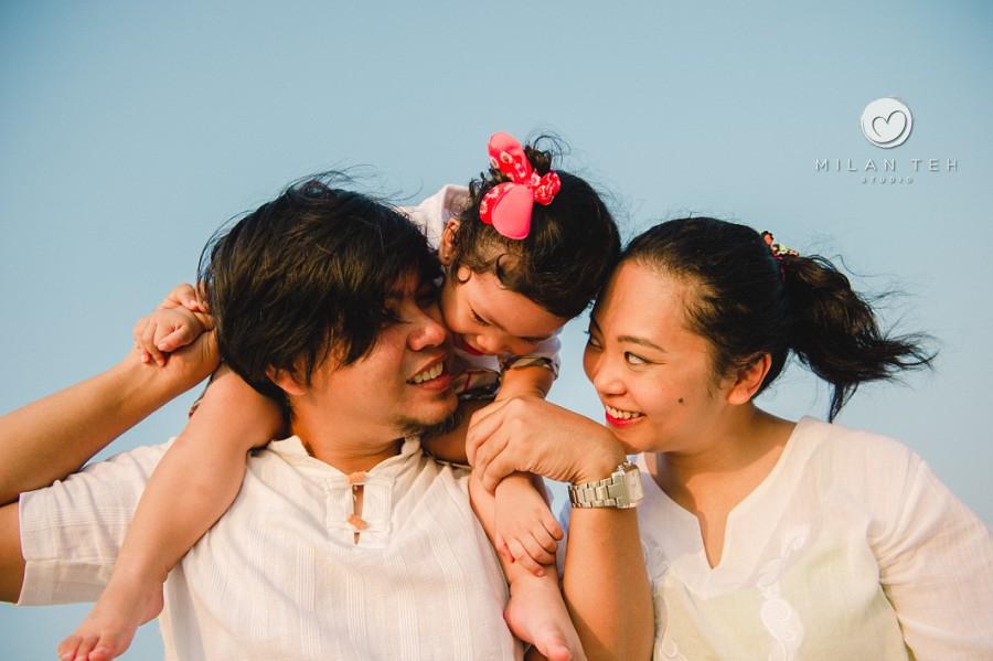 family photo at langkawi beach