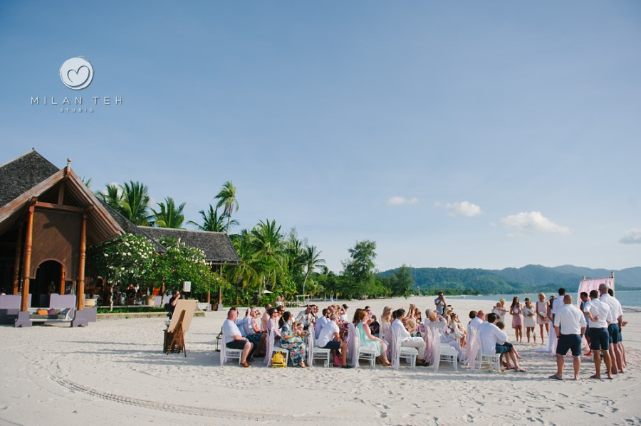 beautiful beach wedding ceremony at four seasons resort langkawi